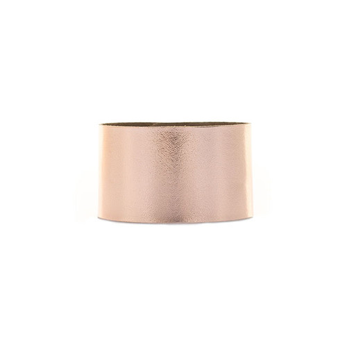 N S Signature Rose Gold Wide Leather Cuff
