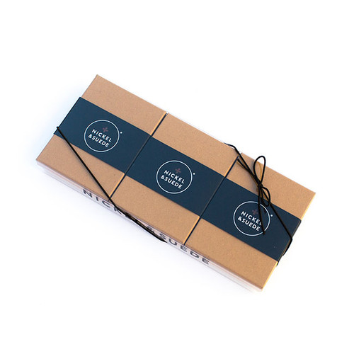 N&S Leather Earrings Gift Set- GOLD Special gift set packaging