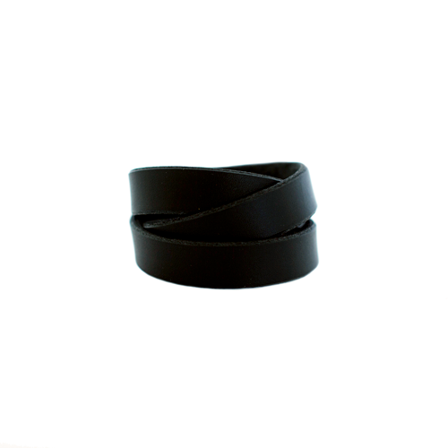 Nickel & Suede Leather Cuff | Black Wrap
