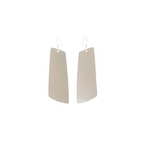 N&S Signature Champagne Gem Leather Earrings