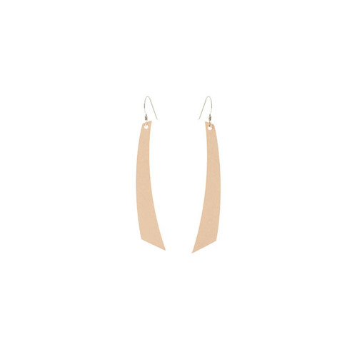 Nude Accent Leather Earrings