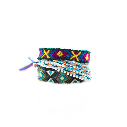 Blue/Green Friendship Bracelet