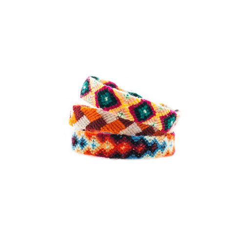 Orange/Red Friendship Bracelet