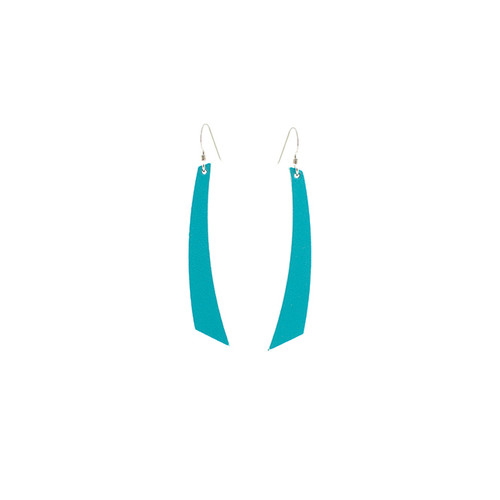 N&S Select Turquoise Accent Leather Earrings Sterling silver ear wire  Nickel free