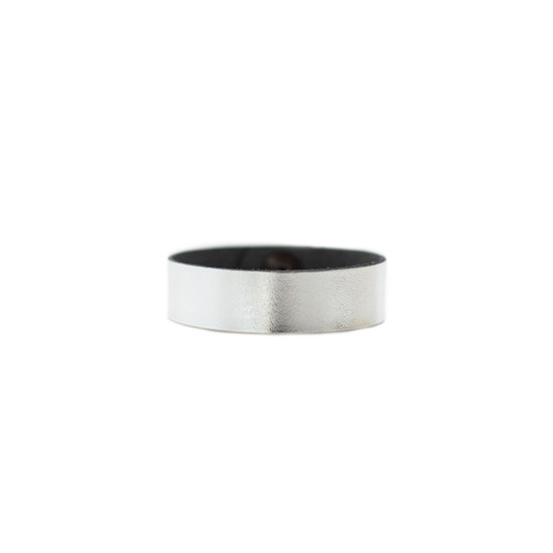 N S Signature Silver Thin Leather Cuff