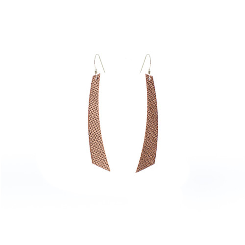 Rosé Leather Earrings