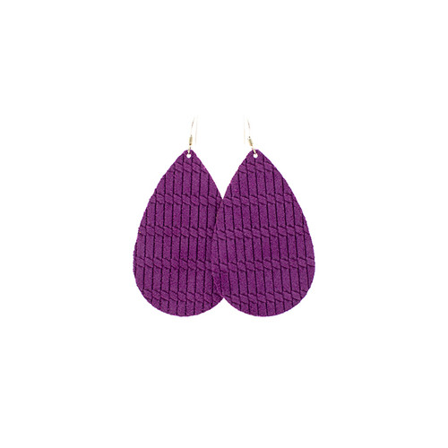 Orchid Cord Leather Earrings