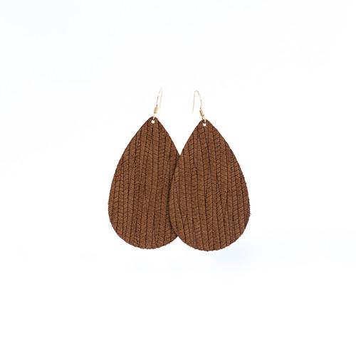 Cedar Grove Leather Earrings