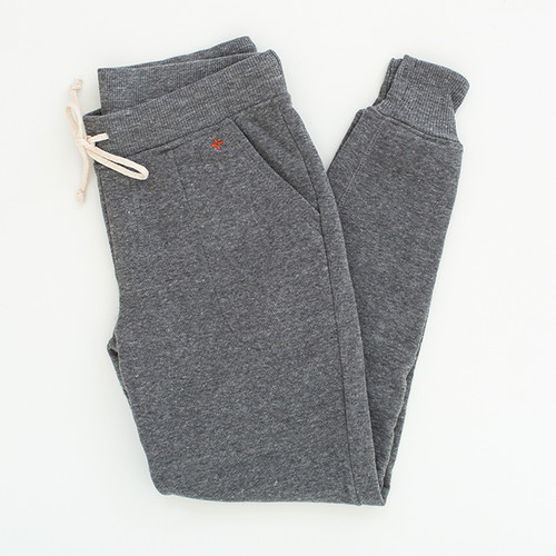 Gray Fleece Joggers  N&S logo on left pocket
