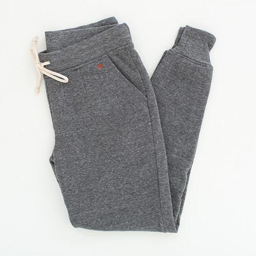Gray Fleece Joggers  N&S logo on left pocket