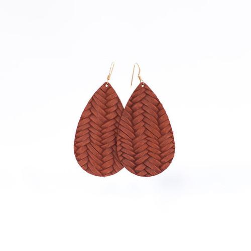 Knit Leather Earrings
