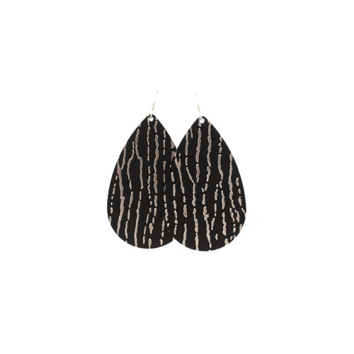 Silver Lining Leather Earrings