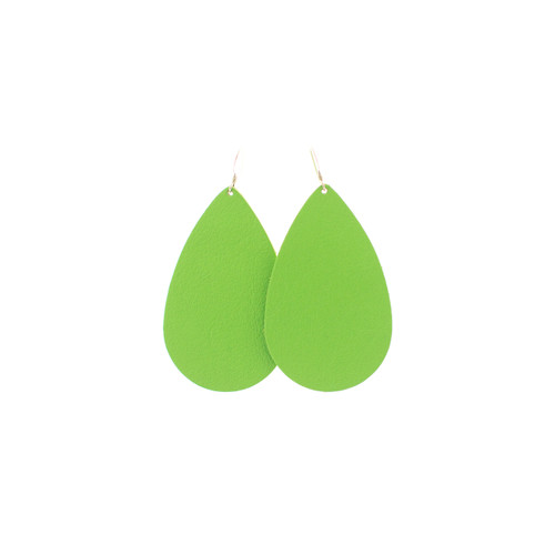 Lime Leather Earrings