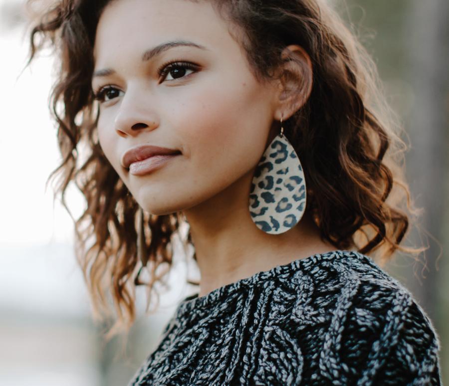 woman in big earring