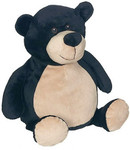 personalised Black Bear Embroider Buddy with birth details