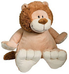 personalised Lion Embroider Buddy with birth details