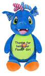 A message from the heart embroidered onto a Personalised Hug-Me Cubby - Signature Blue Dragon