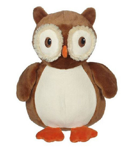 A message from the heart embroidered onto a Personalised Embroider Buddy - Okie Owl