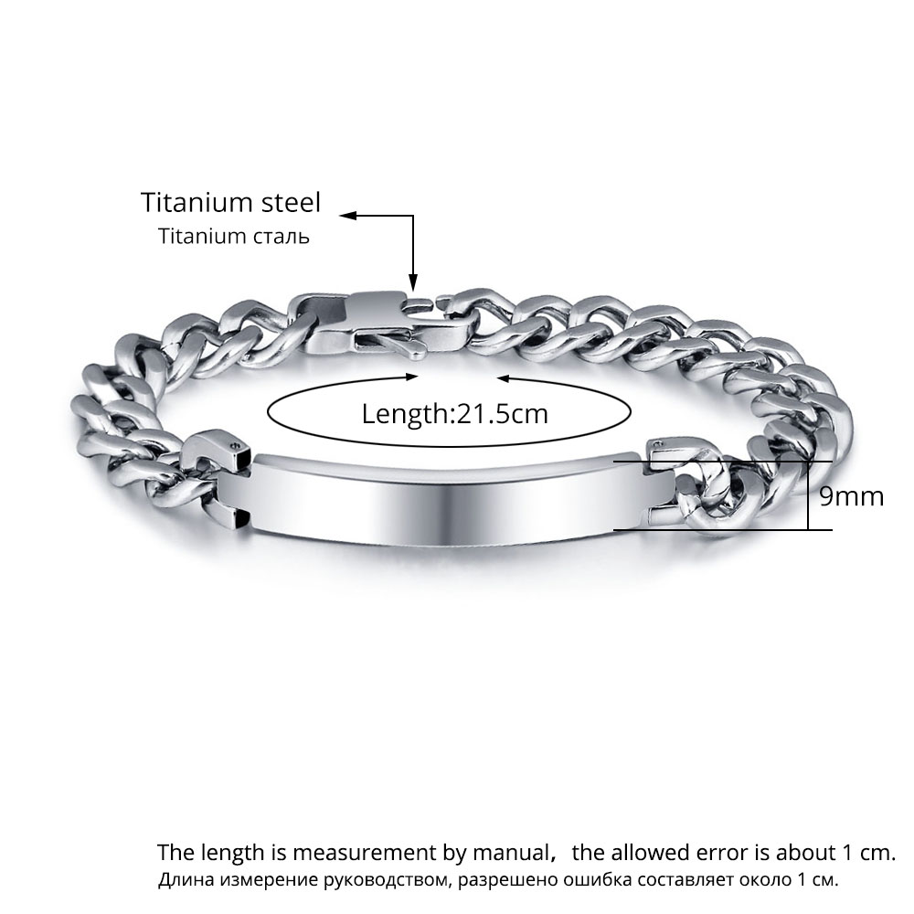 Personalised custom fashion titanium steel bracelet - arbdmdffi