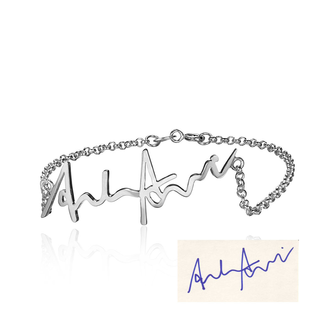 Personalized 925 Sterling Silver Handwritten Jewellery - arbdmdhde