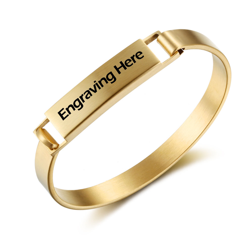 Engraved Personalized Stainless Steel Bracelet# BA101716