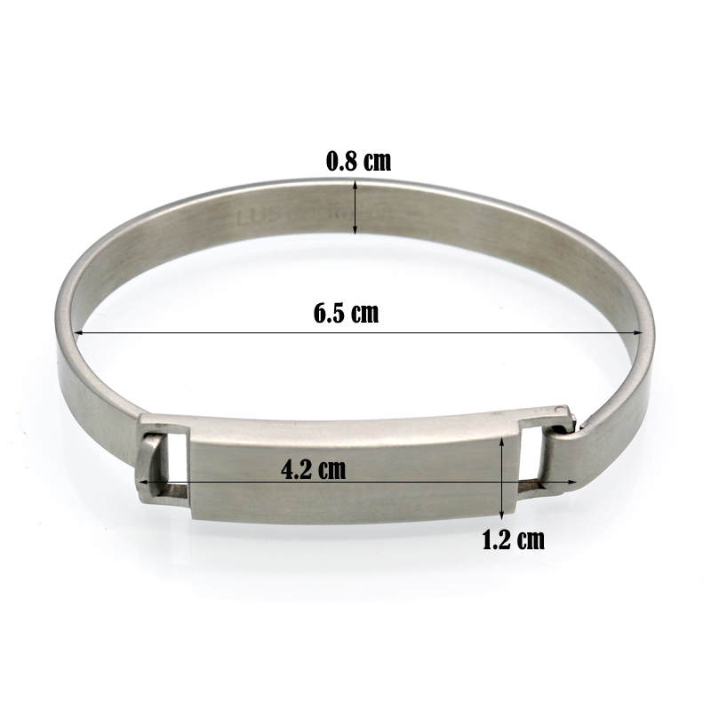 Engraved Personalized Stainless Steel Bracelet - arbdmdjdj