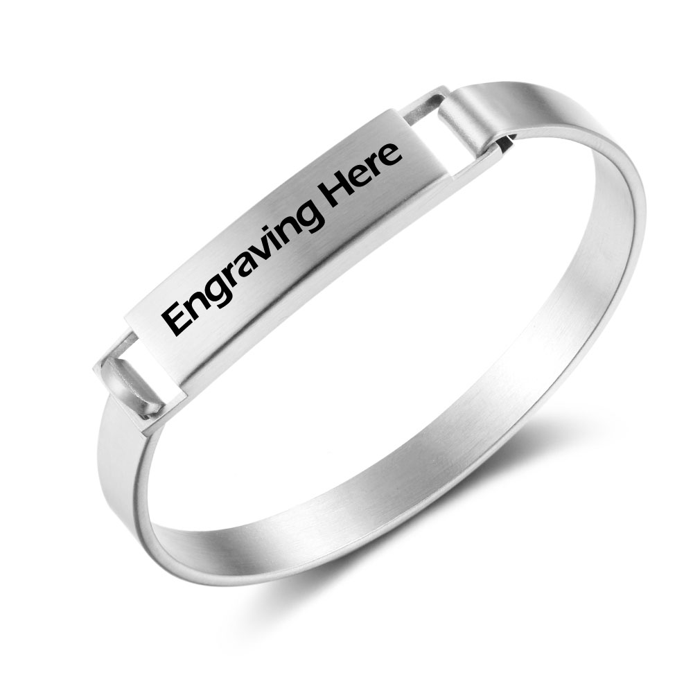 Engraved Personalized Stainless Steel Bracelet - BA101717