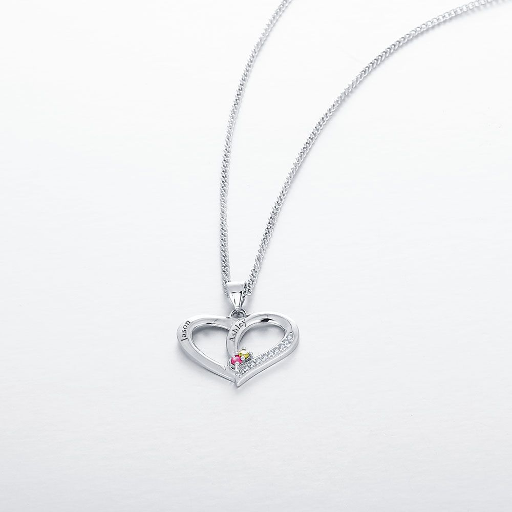 Engraved Personalized Silver Necklace - cenjsjklm