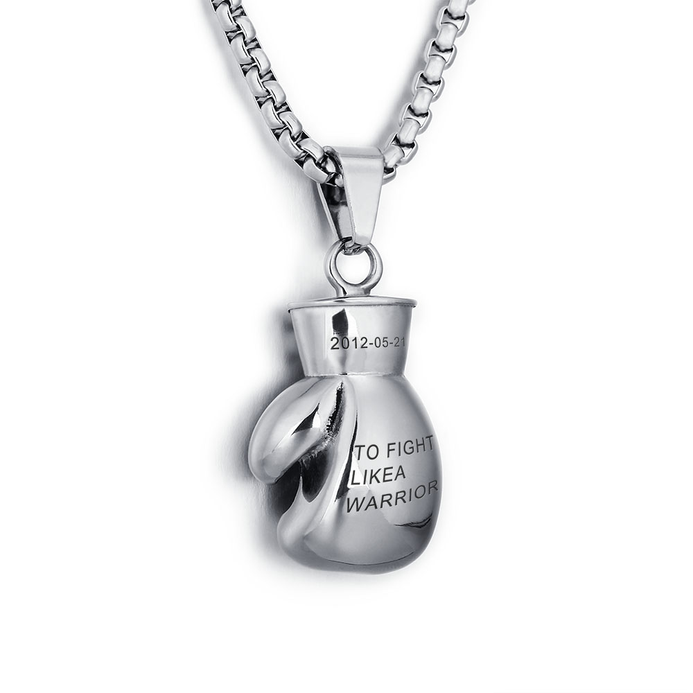 Personalized Boxing gloves Stainless steel necklace - cenjsjlsq
