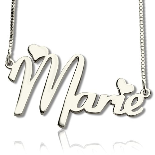 Personalized 925 Sterling Silver Name Necklace - cenjsjlpm