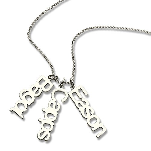 Personalized 925 Sterling Silver Article Name Brand Necklace - NE101375