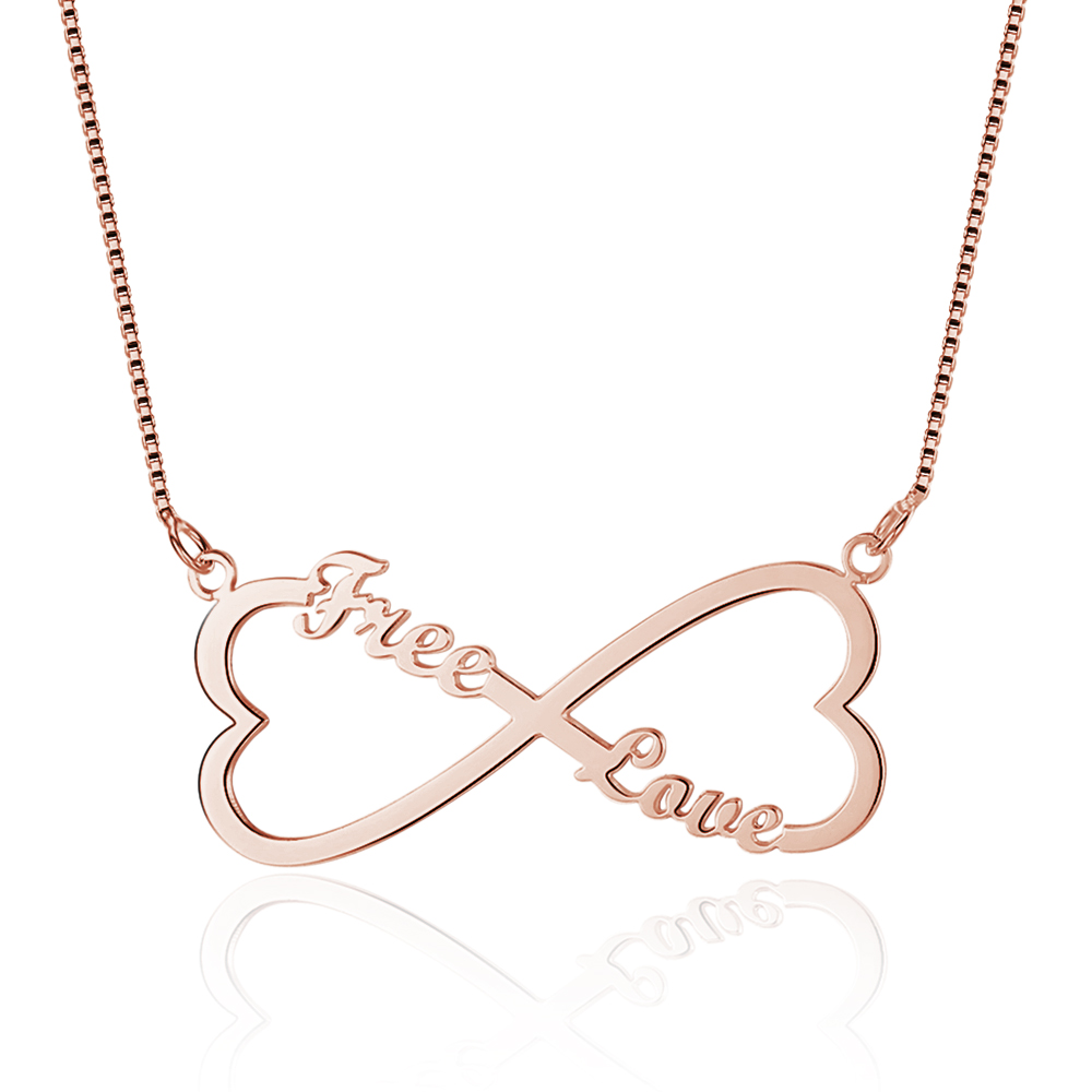 Personalized 925 Sterling Silver Heart Name Necklace - cenjsjnmp