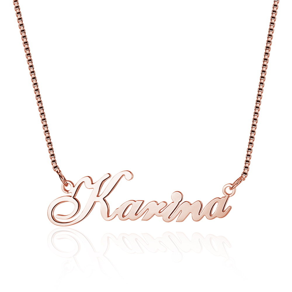 Personalized 925 Sterling Silver Name Necklace - cenjsjnns