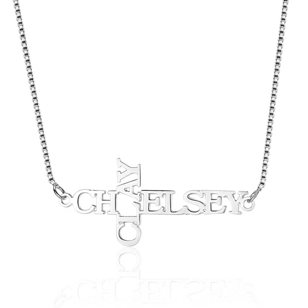 Personalized 925 Sterling Silver Name Necklace - cenjsjnnj