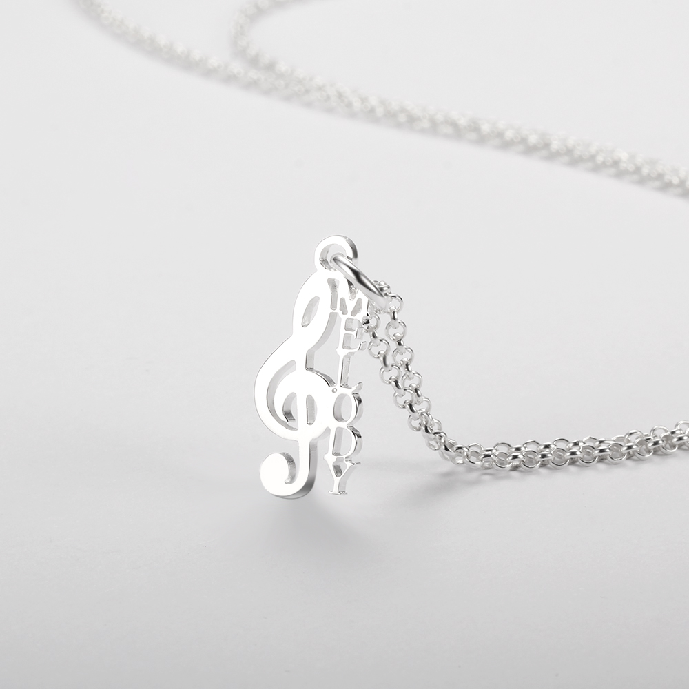Personalized 925 Sterling Silver Name Necklace - cenjsjnqs