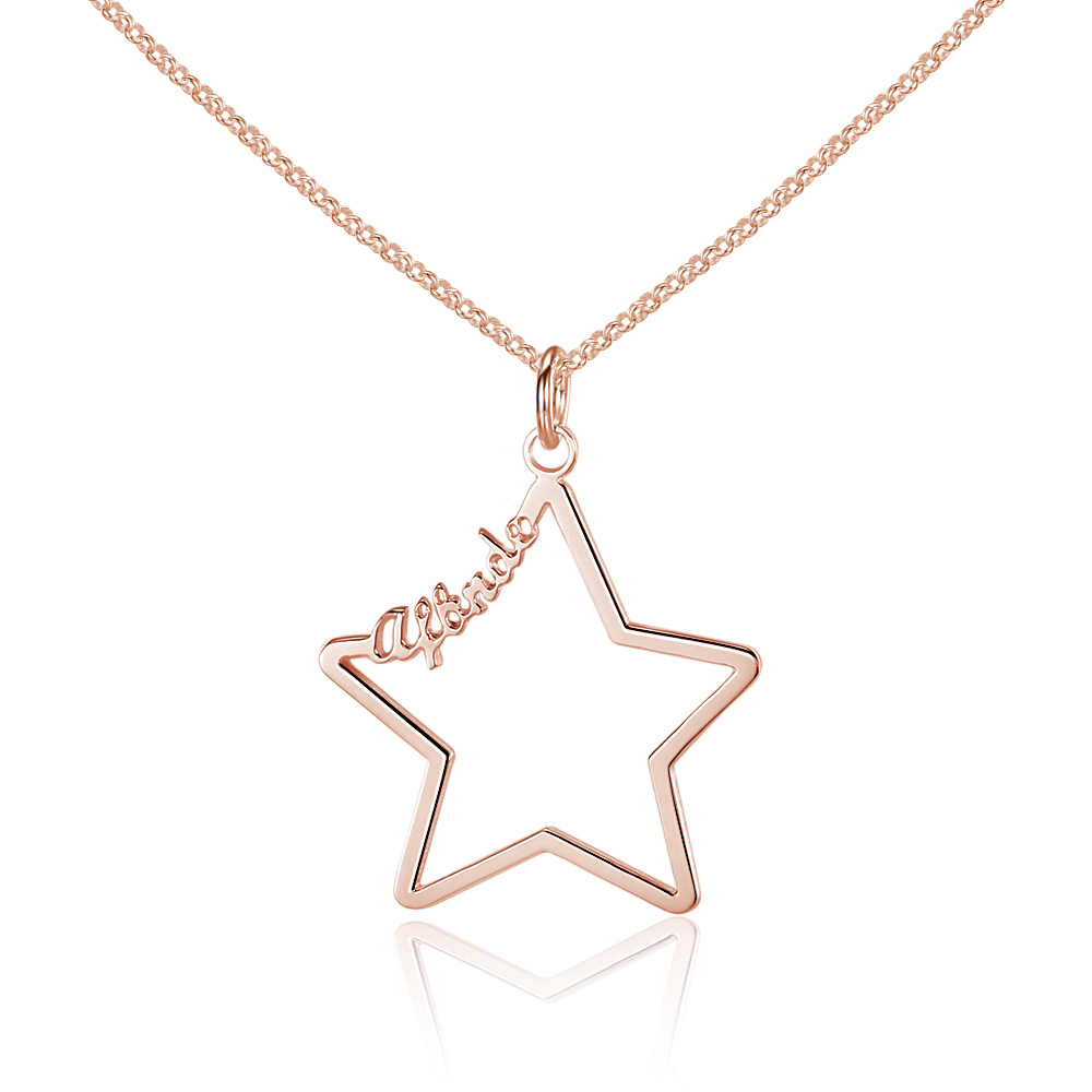 Personalized 925 Sterling Silver Name Necklace - cenjsjnqn