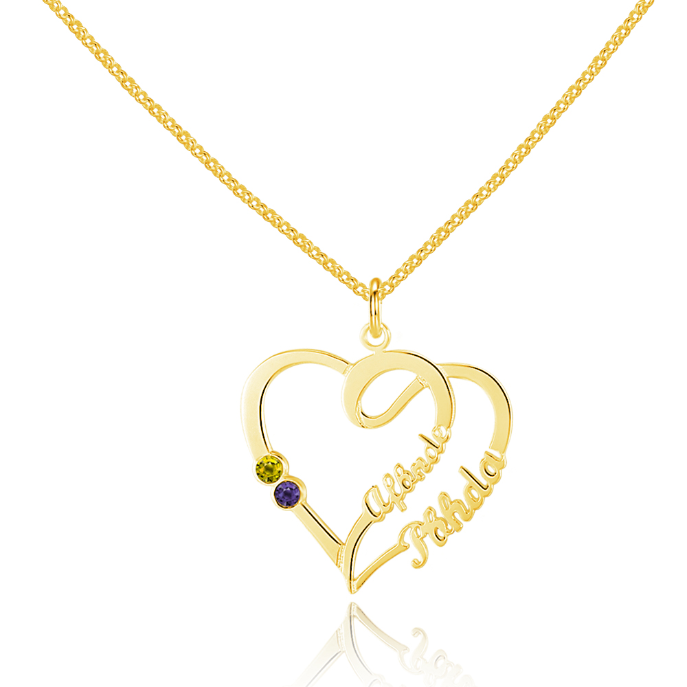 Personalized 925 Sterling Silver Heart-Shaped Necklace - cenjsjnrs