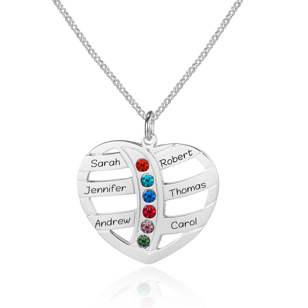 Personalized 925 Sterling Silver Heart-Shaped Necklace#cenjsjnrq