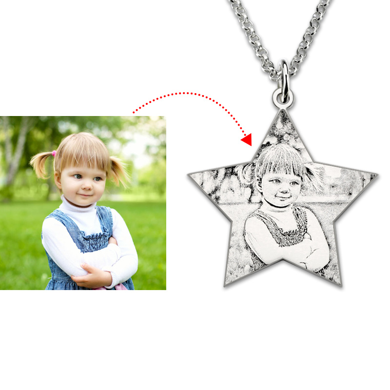 Personalized 925 Sterling Silver Photo Dog Tag Necklace - NE101781
