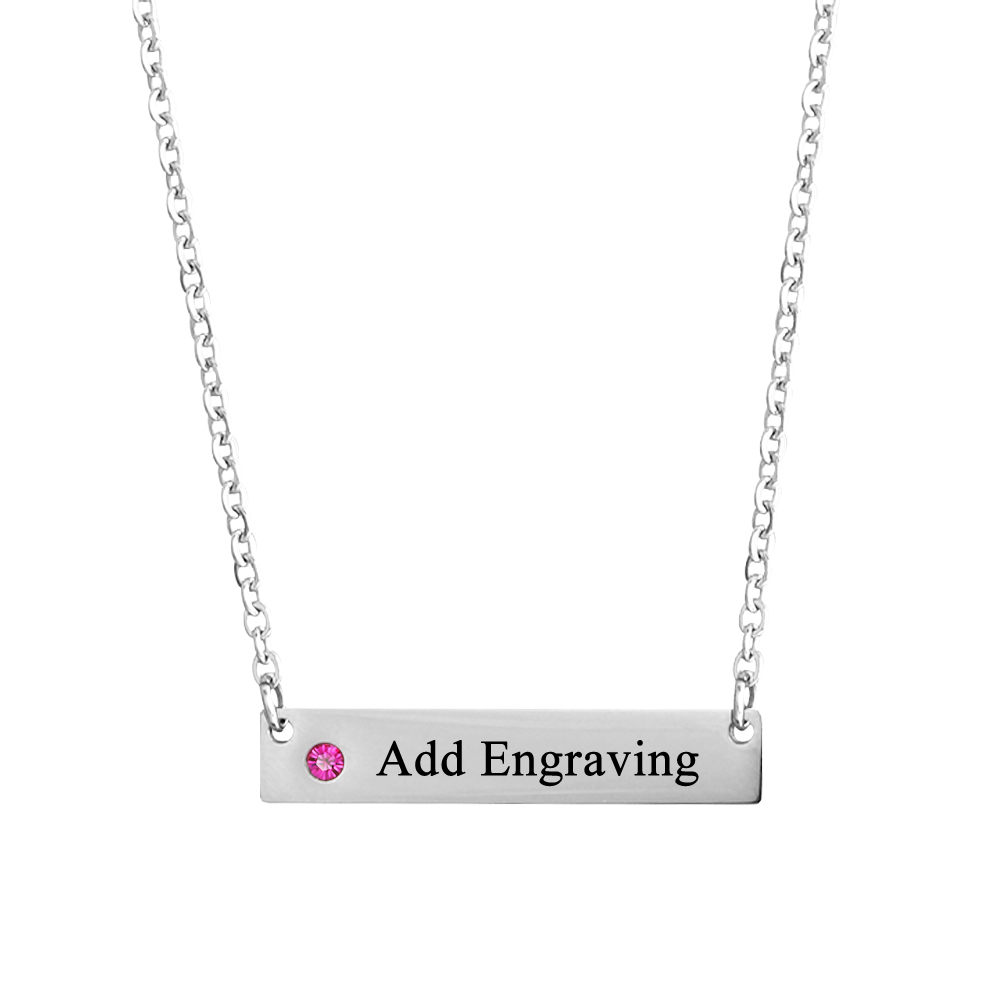 Personalized Stainless Steel Necklace - cenjsjpqp