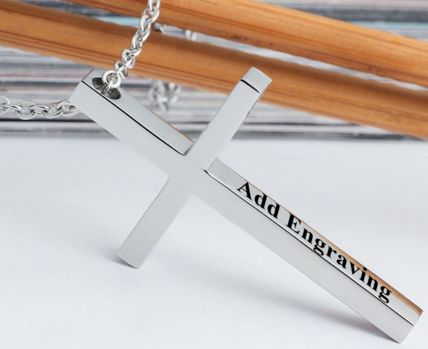 Personalised Custom Fashion Cross Necklace - cenjsjqoo