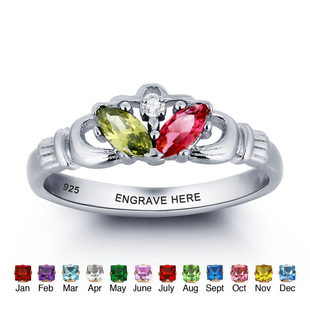 Engraved Personalized Silver Ring #nirgpgmnp