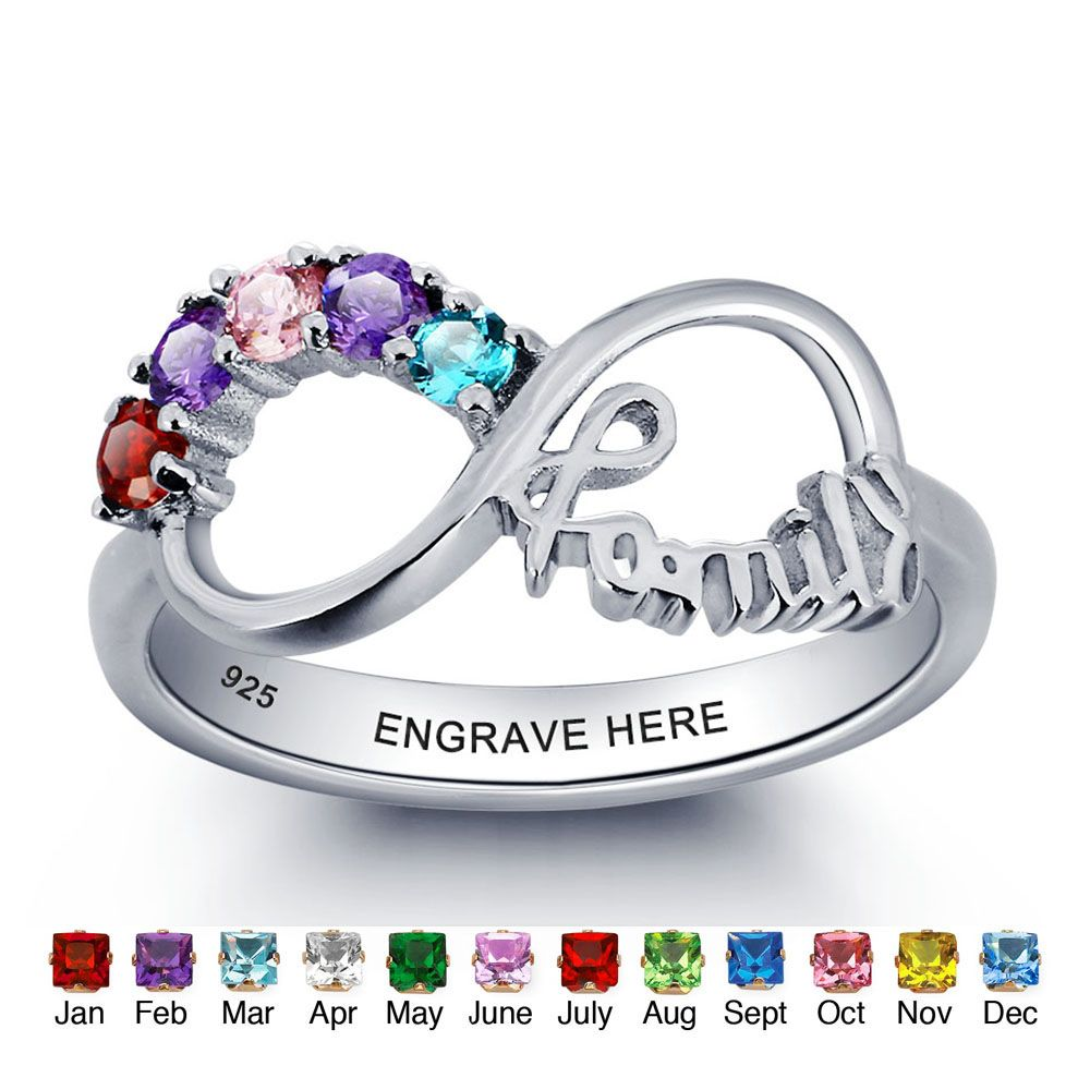 Engraved Personalized Sterling Silver Ring #nirgpgmnm