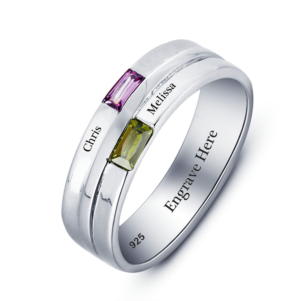 Engraved Personalized Silver Ring #RI101790