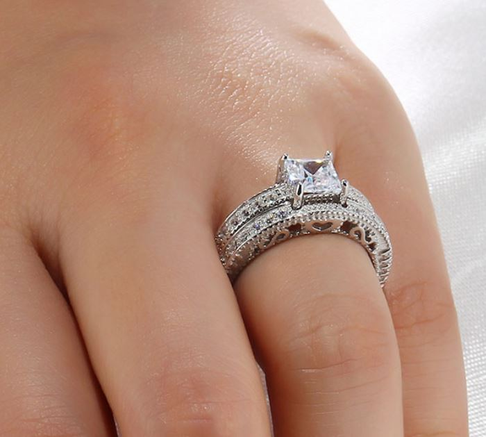Personalized 925 Sterling Silver Lady Ring - nirgpgnon