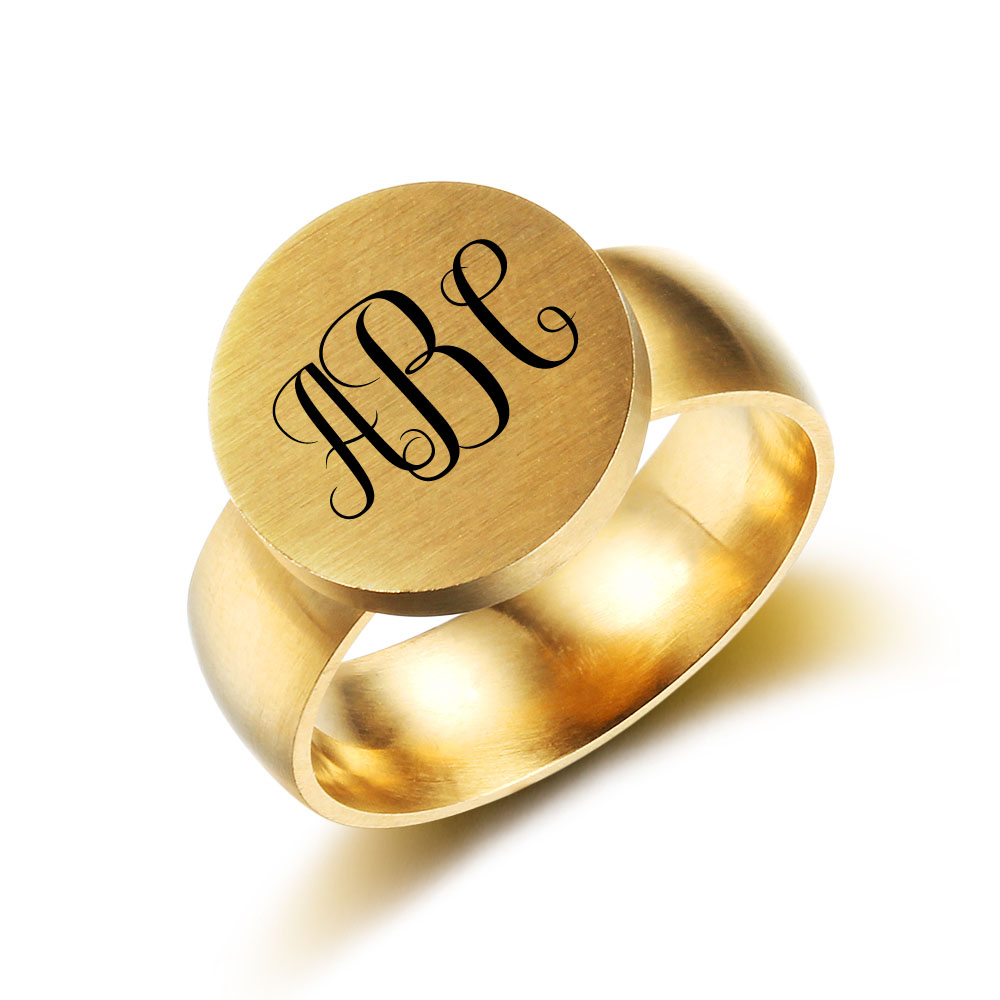 Engraved Personalized Stainless Steel Ring - nirgphjio