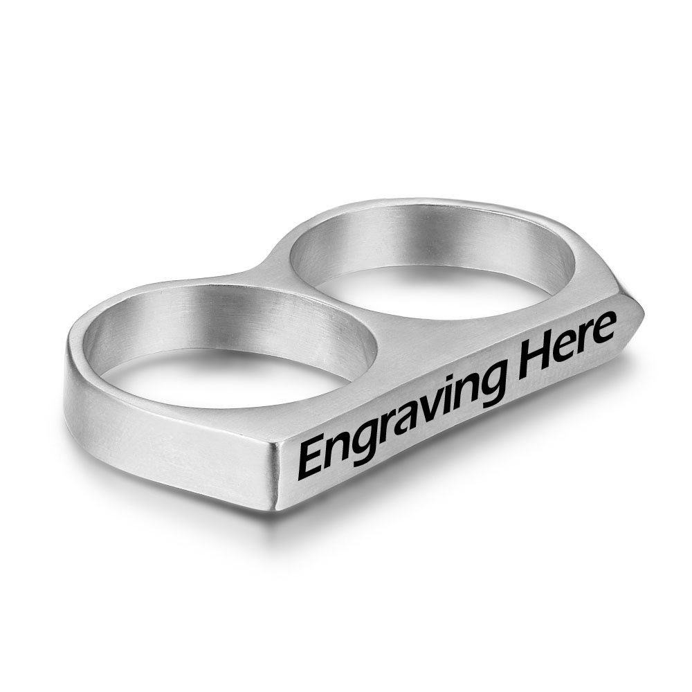Engraved Personalized Stainless Steel Ring - nirgphjjk