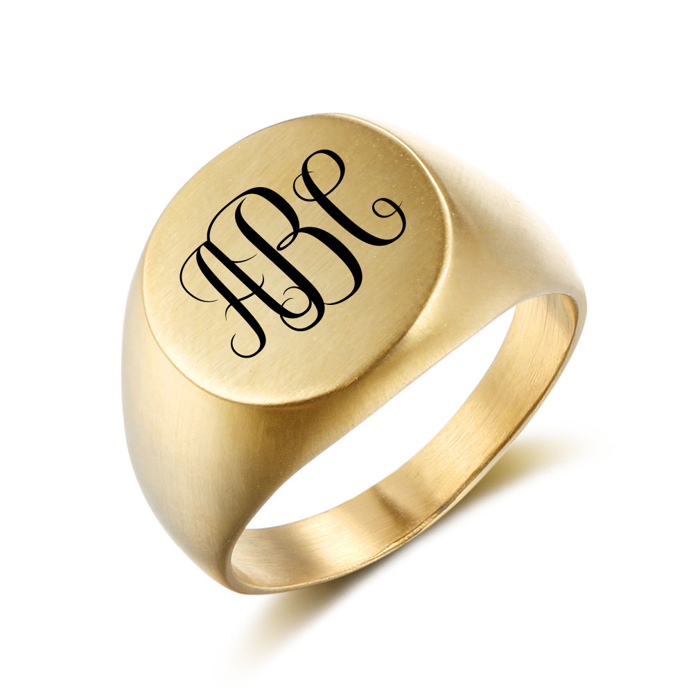 Engraved Personalized Stainless Steel Ring - nirgphjjn