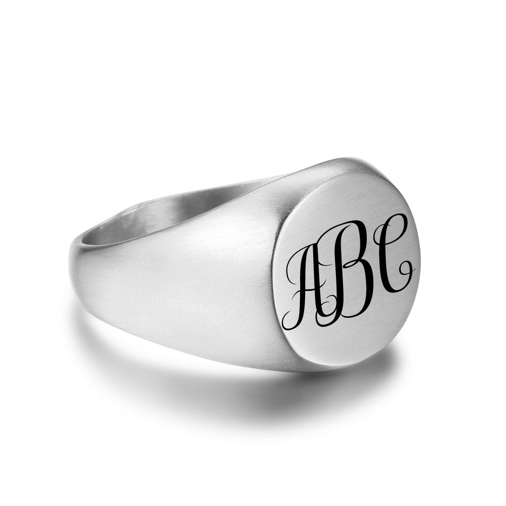Engraved Personalized Stainless Steel Ring - nirgphjjo