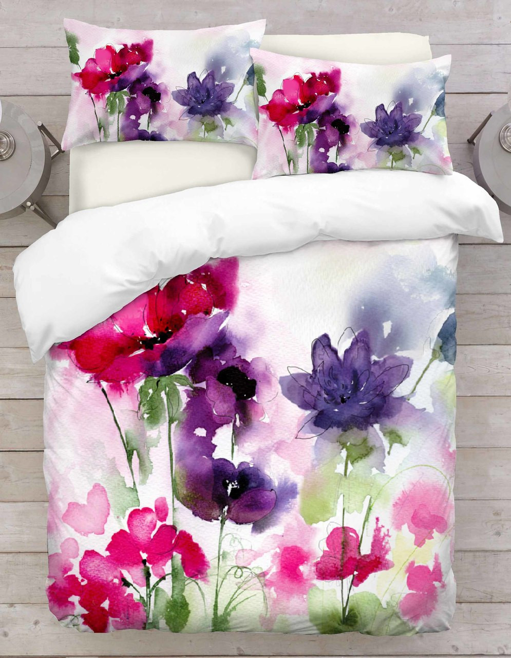 co pin amazon single duvet set lansfield floral cover blue catherine vintage flower